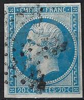 FRANCE Ca.1860: Le Y&T 14B, B Obl. étoile - 1853-1860 Napoleon III
