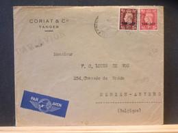 95/650 LETTRE TANGER POUR LA BELG. TIMBRE MANQUANT - Morocco Agencies / Tangier (...-1958)
