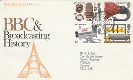 GB LETTRE FDC 1972 50 ANS DE LA B B C - 1971-1980 Decimal Issues
