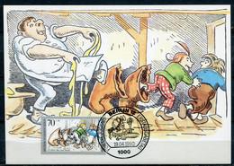 """Maximum Card Germany Berlin 1990 Mi.Nr.869 Maxicard""""125 Jahre Max Und Moritz Von Wilhelm Busch""""mit ESST""""Berlin   """" 1 MC - Fiabe, Racconti Popolari & Leggende"""