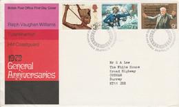 GB LETTRE FDC 1972 ANNIVERSAIRES DIVERS - 1971-1980 Decimal Issues