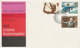 GB FDC 1972 ANNIVERSAIRES DIVERS - 1971-1980 Decimal Issues