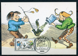"""Maximum Card Germany Berlin 1990 Mi.Nr.868 Maxicard""""125 Jahre Max Und Moritz Von Wilhelm Busch""""mit ESST""""Berlin   """" 1 MC - Fiabe, Racconti Popolari & Leggende"""