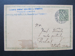 GANZSACHE Bahnpost Zugstempel Rozmital P.Tr - Breznice 1928 //  C6722 - Covers & Documents