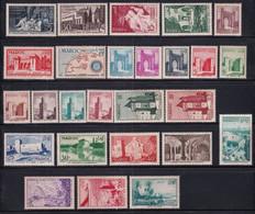 1955 - MAROC - ANNEE COMPLETE Avec POSTE AERIENNE - YVERT N°339/361 + PA 100/102 ** MNH - COTE 2022 = 76 EUR. - Unused Stamps