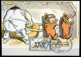 "Maximum Card Germany Berlin 1990 Mi.Nr.869 Maxicard""125 Jahre Max Und Moritz Von Wilhelm Busch""mit SST""Kiel 33  "" 1 MC - Fiabe, Racconti Popolari & Leggende"