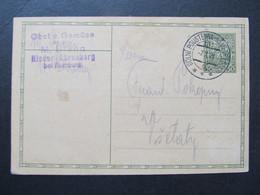 GANZSACHE Bahnpost Zugstempel Dolni Poustevna - Nemecky Brod Nr. 137 1928 Nieder Ehrenberg Rumburg//  C6720 - Covers & Documents