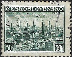CZECHOSLOVAKIA 1938 Provincial Economic Council Meeting, Pilsen - 50h - Armament Factories, Pilsen FU - Used Stamps
