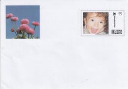 ** Privat Umschlag - Kind  Mit Offenen Mund - Auflage 5o Stück - Umschläge - Gebraucht