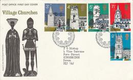 GB LETTRE FDC 1972 VIEILLES EGLISE DE VILLAGES - 1971-1980 Decimal Issues