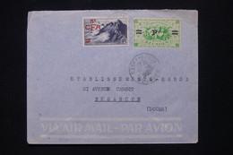 RÉUNION - Enveloppe De St Denis Pour Besançon, Affranchissement Surchargés - L 108957 - Lettres & Documents