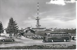 Salzburg, Am Gaisberg-Plateau Mit UKW-TV-Sender, Bus, PKW, Foto-AK, Nicht Gelaufen, Stempel Gaisberger Spitze - Buses & Coaches