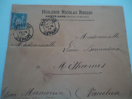 FRANCE   COVER   1897    MARSEILLE  MORMOIRON  2 SCAN - Unclassified