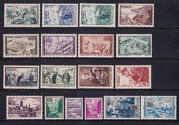1954 - MAROC - ANNEE COMPLETE Avec POSTE AERIENNE - YVERT N°327/338 + PA 94/99 ** MNH - COTE 2022 = 49.5 EUR. - Unused Stamps