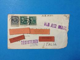 1953 USA STATI UNITI AMERICA STORIA POSTALE POSTAL HISTORY 3 FRANCOBOLLI SU LETTERA THREE STAMPS ON LETTER REGISTERED - Postal History