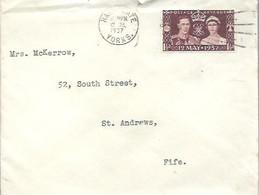 LETTER 1937 HARREGATE  YORKS - Covers & Documents
