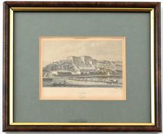 Winkles, Henry (1800-1860?): Buda (Ofen), 1840 Körül. Acélmetszet, Papír, Jelzett A Metszeten, üvegezett Fa Keretben, 7x - Gravuren