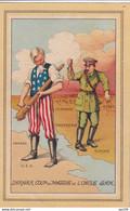 CP Ancienne Patriotique  40-45  Anti-allemand Coup De Massue De L'Oncle Sam  - Hitler N'a Pas Circulé - Patriottiche