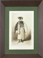 Théodore Valerio (1819-1879): Heves Megyei Földműves Népviselete, 1851-54 Körül. Rézmetszet, Hidegtű, Papír, Jelzett A M - Gravuren
