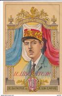CP Ancienne Patriotique  40-45  Anti-allemand Le Libérateur De Gaulle  N'a Pas Circulé - Patriottiche