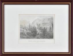 Cca 1850-60 Julius Lange (1817-1878) - Franz Hablitschek (1824-1867): Schloss Ambras Bei Innsbruck (Tyrol), Acélmetszet, - Gravuren