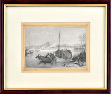 Cca 1850 Pétervárad Látképe, Acélmetszet, Papír, Jelzés Nélkül, üvegezett Fa Keret, 10x14,5 Cm, - Gravuren