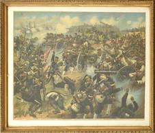 Cca 1900 Fritz Neumann (?-?) Festménye Után: A Kintschoui Csata Az Orosz-japán Háborúban (Battle Of Kintschou). Kromolit - Gravuren