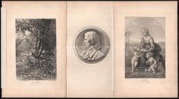 Cca 1860 5 Db Régi Réz és Acélmetszet, Görög és Antik Témákkal. Hártyapapíros Kartonon. Lap Méret 24x16 Cm - Gravuren