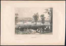 1850 Vác (Waitzen) Látképe, Hildbh. Bibliogr. Institut, Acélmetszet, 11×15 Cm - Gravuren