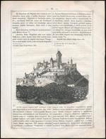 1853 Nógrád Várának Látképe, Papír, Fametszet, In: Magyarország és Erdély Képekben III. Kötet, 27x20 Cm - Gravuren