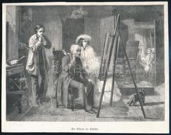 Cca 1800-1900 6 Db Metszet (Életképek, Portrék, Látkép) Klf. Technikák, Papír, Egyik Foltos és Kissé Sérült, 9,5x7 és 17 - Gravuren