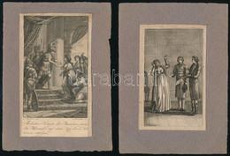 Cca 1800 4 Db Régi Metszet, Papír, Feltehetően Illusztrációk Michel Eyquem De Montaigne Gedanken Und Meinungen über Alle - Gravuren