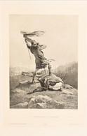 Cca 1890-1900 Zichy Mihály (1827-1906): A Megtalált Szarvas. Heliogravűr, Papír. Jelzett A Heliogravűrön. Bécs, H. O. Mi - Gravuren