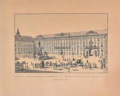 Innere Ansicht Der K.k. Hofburg (Bécs). Metszet (későbbi Lehúzás, 1900 Körül?), Papír, Lap Kissé Foltos. 33,5x44,5 Cm - Gravuren