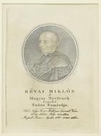 Cca 1830 Franz Sales Lochbihler (1777-1854) Festménye Után Metszette Ehrenreich Sándor Ádám (1784-1852): Révai Miklós (1 - Gravuren