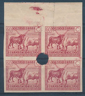 BELGIAN CONGO  1923/1925 VLOORS ISSUE COB 124 FILE COPY IMPERFORATED NO GUM TEAR - 1923-44: Mint/hinged