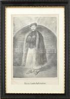 Cca 1860-65: Rózsa Sándor Kufsteinban. Litográfia, Papír, Jelzés Nélkül, C. Lanzedelli, Bécs Kiadása, üvegezett Fa Keret - Gravuren