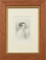 Barabás Miklós (1810-1898) Festménye Nyomán Metszette Karl Mahlknecht (1810-1893): Biedermeier Női Portré, 1850 Körül. A - Gravuren