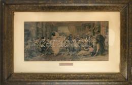 Cca 1850-1900 Lucullus, Színes Metszet. Dekoratív, üvegezett, Sérült Fa Keretben. 37x77 Cm - Gravuren