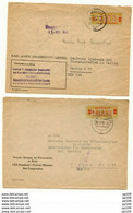 2 L  ZENTRALER Kurierdienst 1958  Druckerei Thomas Müntzer LANGENSALZA + Universität Geschichte Des Altertums LEIPZIG - Briefe U. Dokumente