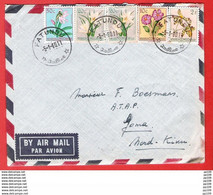 CONGO  PAR AVION PER VLIEGTUIG  Tarif Intérieur  (3F)  Obl FATUNGU 5 I 60 Vers GOMA  - Pas Courant - 1947-60: Lettres
