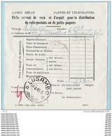 CONGO BELGE Fiche Servant De Reçu Et D'acquit - Paquet - Obl LUSAMBO24 VI1948 - Document Postal -  Postes Et Télégraphes - Unclassified