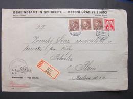BRIEF Zdirec - Plzen 1944 Mischfrankatur !! //  C5379 - Briefe U. Dokumente