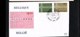 1971 - Belgium FDC - Cancel Bruxelles-Brussel - Europe CEPT [P14_932] - 1971-80