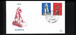 1974 - Belgium FDC - Cancel Gembloux - Europe CEPT [P13_503] - 1971-80