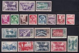 1951 - MAROC - ANNEE COMPLETE (SAUF 311) Avec POSTE AERIENNE - YVERT N°298/314 + PA 81/83 * MLH - COTE 2022 = 53 EUR. - Unused Stamps