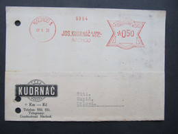 BRIEF Postfreistempel Frankotype Nachod - Orlova 1935 //  C5391 - Covers & Documents