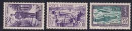 1951 - MAROC - ANNEE COMPLETE POSTE AERIENNE - YVERT N°PA 81/83 ** MNH - COTE 2022 = 39 EUR. - Airmail