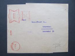 BRIEF Postfreistempel Frankotype Praha Orion 1933 ZEITUNGSSTREIBAND //  C5389 - Covers & Documents