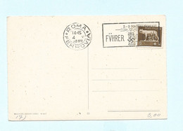 Carte Postale 1938 Flamme FUHRER- DUX - Marcophilia